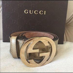 Authentic Gucci belt size 80